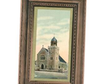 very old Scottish postcard of the U F Church of Carmyle, Scotland, 1908