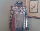 Upcycled junk gypsy boho dress/tunic..L-XXL..romantic gypsy tunic..shabby chic dress..patchwork dress..lagenlook tunic/dress..urban prairie.
