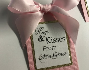 baby shower gift tag - baby girl tag - baby shower favors - favor tags - custom tags