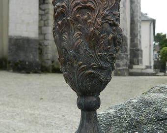 Chalice Satyr Devil 99% Italian Pewter patina Bronze Peltrato