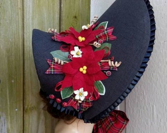 Black Christmas Caroling Bonnet #17