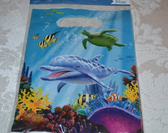 24 Ocean Party Favor Bags/Favor Bags/Loot Bags/Party Bags/Treat Bags/Dolphin Party Bags/Sea Life Cello Bags