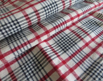 Free Shipp Pillow Case   Handwoven Linen  Checked  Pillowcase Pillow Sham  Cover Eurosham   Upholstery Plaid Kelsch Fabric Cottage Kelsch