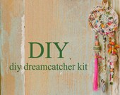 white dreamcatcher, DIY Kit, Eco Friendly Gifts,  DIY Gifts,  Holiday Sale, Christmas gifts,