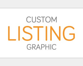 Custom Listing Placeholder Graphic | Website Shop Icon Custom Personalized | Commercial Business Product or Service Add-On Design