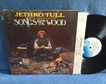 "Vintage, Jethro Tull - ""Songs From The Wood"" Vinyl LP, Record Album, Ian Anderson, Hunting Girl, Ring Out, Solstice Bells"