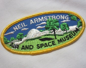 Neil Armstrong // Vintage Embroidered Patch //Air and Space Museum  // Iron -On