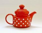 Vintage Wächtersbach Red Spotty Teapot