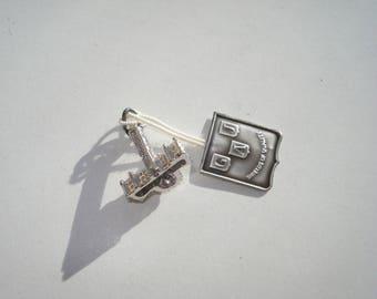 Vintage Sterling Silver Parliament Hill Charm - Tiny Pendant - 1970's - Ottawa