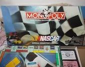 Monopoly NASCAR Board Game, Monopoly Board Game, Nascar, Vintage Board Game, Board Game , Toys, Vintage Toys