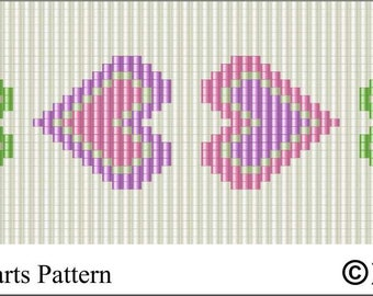 LOOM PATTERN - Mother's Day Hearts .PDF File