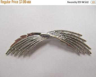On Sale Vintage 2pc Silver tone Swag Pin and Earring Set Item K # 2424