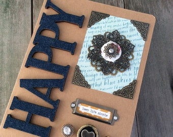 Happy Journal/Boho Journal/Happiness/Writing Journal