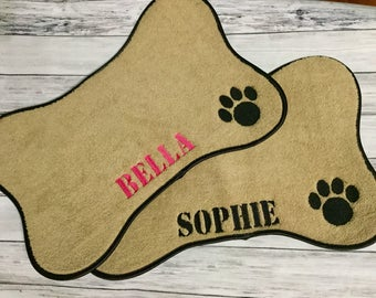 Pet Placemat, Pet mat, Personalized dog Mat, Pet feeding bowl Mat, dog feeding bowl mat, Pet gifts, New dog gifts,  Dog placemat