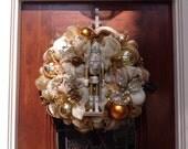 Elegant Siver a and Gold Nutcracker Wreath