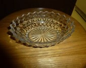 Special Order for Glen: American Diamond Fostoria Oval Nut/Candy Bowl and 7 American Diamond Dessert Bowls