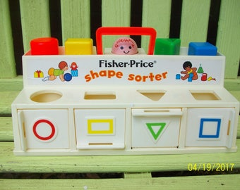 1974 Fisher Price Shape Sorter, No. 412,  Made in USA