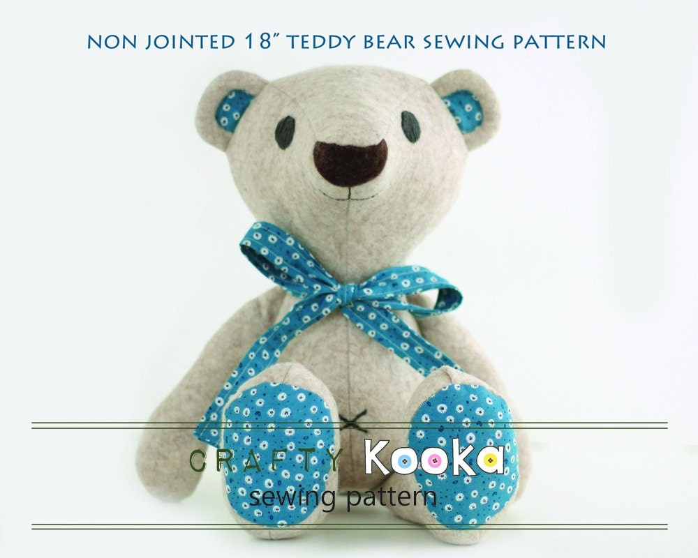Teddy bear pdf pattern tutorial for instant download jeuxipadfo Images
