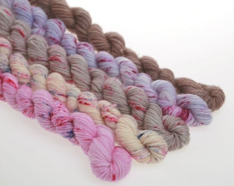 Mini Skeins Collection -  PINK to PURPLE    'Oh, What a Feeling'   836