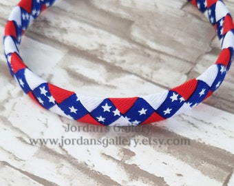 Independence Day/ 4th of July/ Patriotic/ Stars and Stipes Woven Headbands