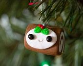 Handmade Yule Log Ornament