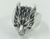 dragon ring, stainless steel