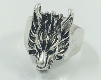 dragon ring, stainless steel