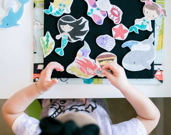 Under The Sea Felt Board Set - Toddler Quiet Book, Felt Activity Book, Montessori Toddler, Busy Book, Felt Story Board, Felt Board Stories