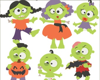 Halloween Clipart Zombies -Personal and Limited Commercial Use- Zombie Clip Art