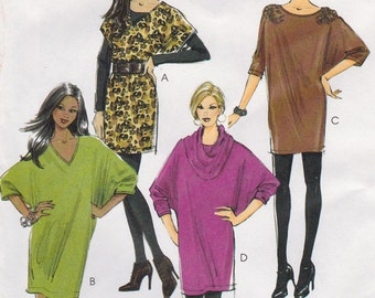 "FF 2010 Easy Misses' Dresses and Cowl Sewing Pattern [McCall's  6161] Size 4-14, Bust 29.5-36"", UNCUT"
