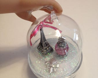 American Girl Doll Size 18 inch Grace Doll Glass Dome Cloche Paris Eiffel Tower Display