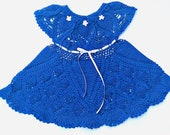 Final payment for Royal blue Petite Pineapples crocheted baby dress
