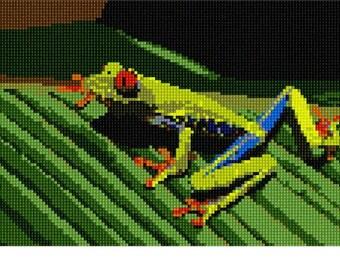 Needlepoint Kit or Canvas: Frog