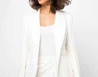 Royalty White Blazer- Size Med