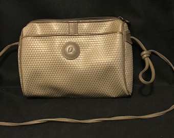 Vintage Liz Claiborne Handbag Taupe Classic 1980's Fashion Bag Retro Fashion