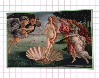 Birth of Venus Back Patch Jenni's Prints Paintings Pre Renaissance Sandro Botticelli