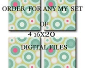 """DIGITAL file, Children's art, Kids Art, Baby Girl Room Decor, set of 4 16"""" x 20"""", DIGITAL image"""
