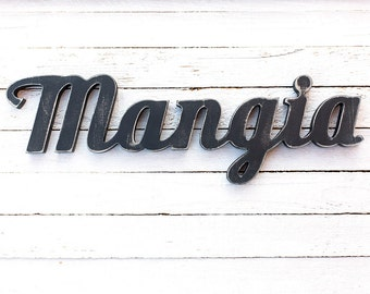 Mangia sign - kitchen sign - italian signs - kitchen wood sign - kitchen signs - kitchen decor - wall sign kitchen - home decor signs