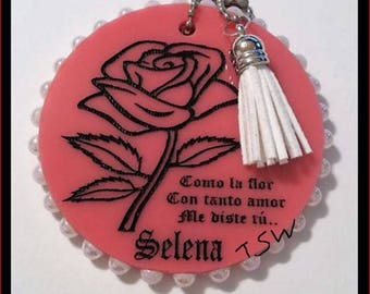 """Compact Mirror Laser Cut Acrylic Pocket Mirror Laser Cut and Engraved Hand Painted 3"""" Exclusive TSW Design"""