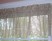 "One Antique White Color Chantilly Lace Valance 58"" x 15"""