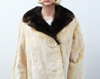 1940s Ermine and Mink Fur Jacket
