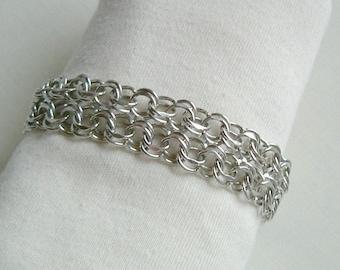 Forstner Sterling Double Row Link Bracelet