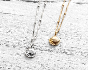 TINY SHELL necklace with small mussel | silver