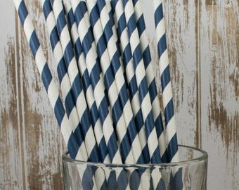 WHOLESALE Barber Stripe Straws - 600 count box - vintage paper straws