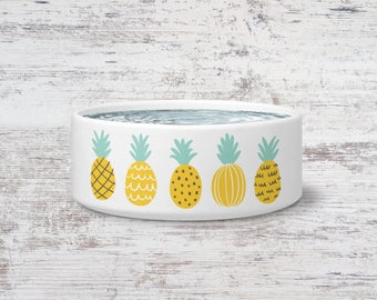 Pineapple Pet Bowl Small or Large Dog Bowl Ceramic Cat Bowl Dish Pet