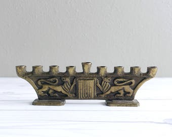 Vintage Menorah Candle Holder