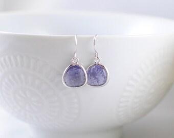 The Phoenix Anne Earrings -Amethyst/Silver