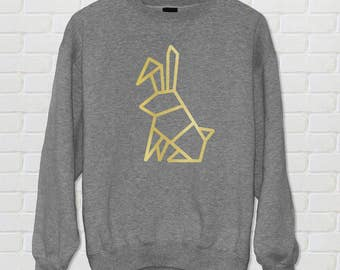 Geometric Rabbit Sweatshirt - Jumper - Rabbit - Bunny - Clothes