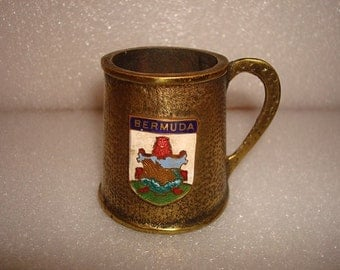Peerage Made In England Small Hammered Brass Beer Stein / Collectible Stein (Rare)