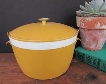 Yellow Sunfrost Ice Bucket Vintage Yellow Plastic Ice Bucket